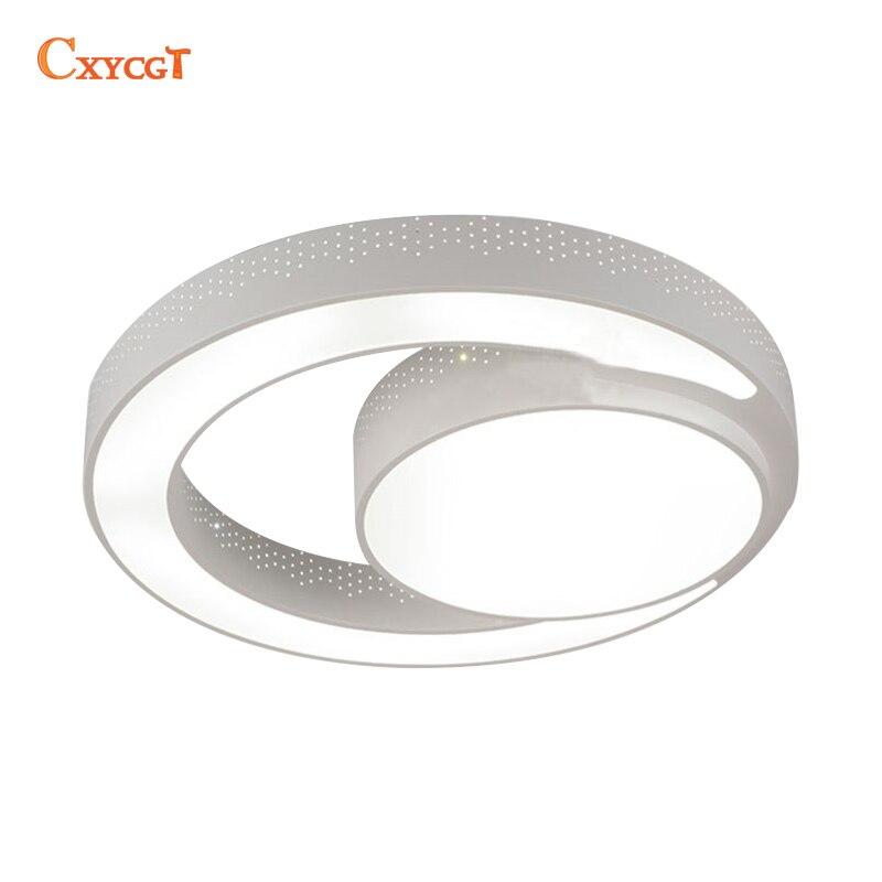 Modern LED Ceiling Light fixture Flush mounted Acrylic Ring Light lustres Ceiling Lighting 2 rings LED lamp