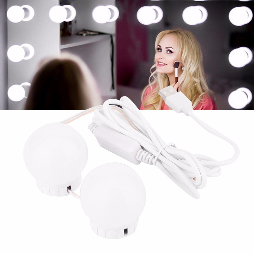 Einstellbare 20 Leds Beleuchteten Make-up Spiegel Touch Screen Tragbare Vergrößerungs Eitelkeit Tabletop Lampe Kosmetik Spiegel Make Up Tool 2019 New Fashion Style Online Spiegel