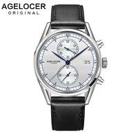 Switzerland Men Luxury Chronograph Watch Roles Reloj AGELOCER Timepiece Sapphire Quartz Wrist Watches for Mens relogio masculino