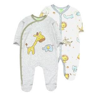 Image 3 - תינוק בני Rompers חמוד קריקטורה 100% כותנה ארוך שרוול תינוק בגדי עבור 0 12 m Infantil יילוד תינוקת בגדי Roupas דה bebe