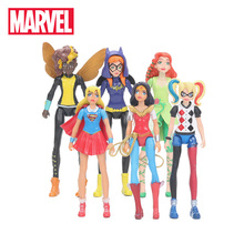 """6 шт./компл. 15 см Marvel игрушки завершающей супер герой и девочек с героями игр принт с чудо-женщина Ядовитый плющ """"шмель"""", """"Харли Квинн фигурки"""