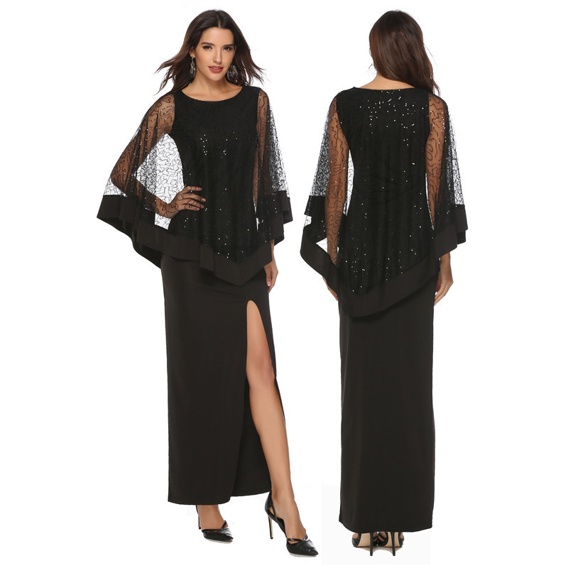 2019 nouvelle arrivée mode robe noire robe de femmes