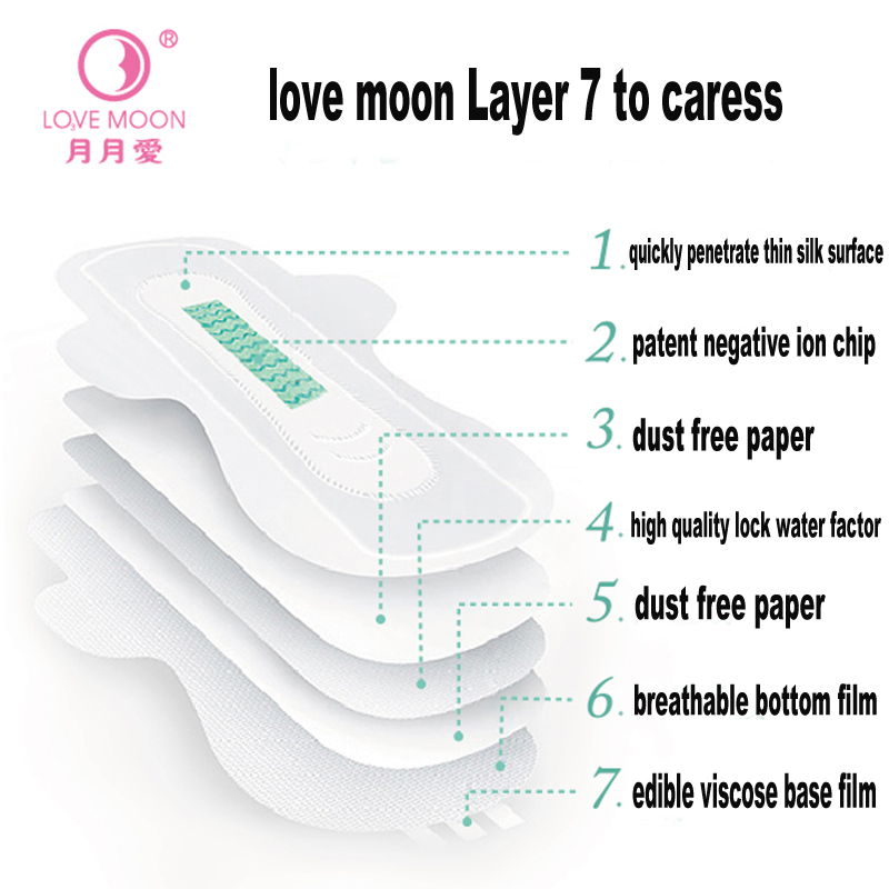 Image 5 - 19pack /lot Anion Love Moon Jewelry Sets Winalite Lovemoon Anion Sanitary Pads Female Hygiene Sanitary Napkin Panty Liner-in Feminine Hygiene Product from Beauty & Health