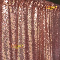 LQIAO 3mx6m Rose Gold Sequin Backdrop,Party Wedding Sequin Photo Booth Backdrop Decor,Photo Backdrop,Sequin Curtain 10ftx20ft
