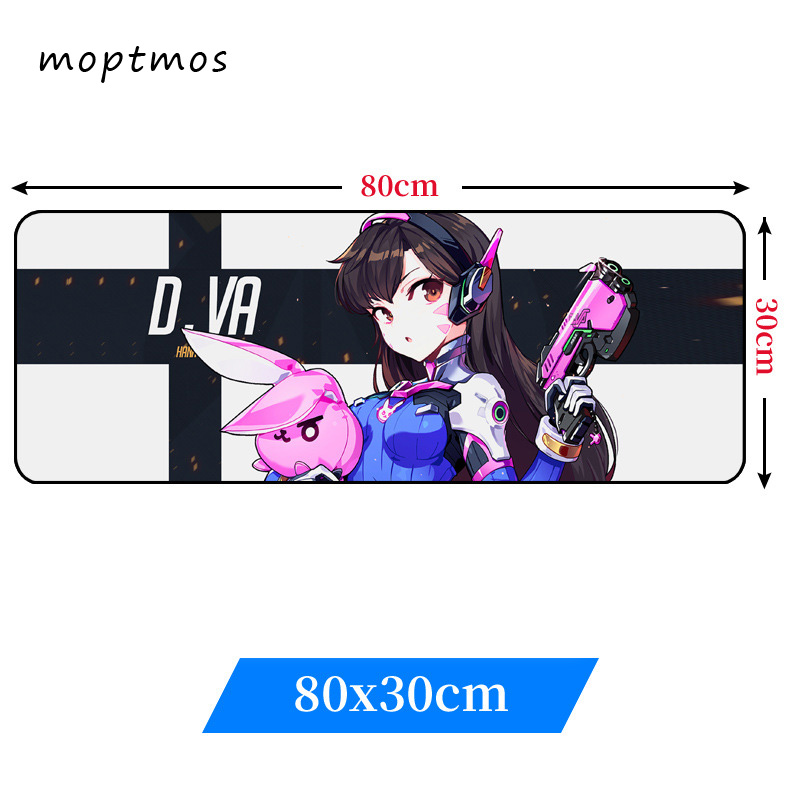 Overwatch Extra Large Gaming Mouse Pad Anime D.VA Mouse Mats Non-Slip Mousepad Mousepad for Laptop & PC (31.5