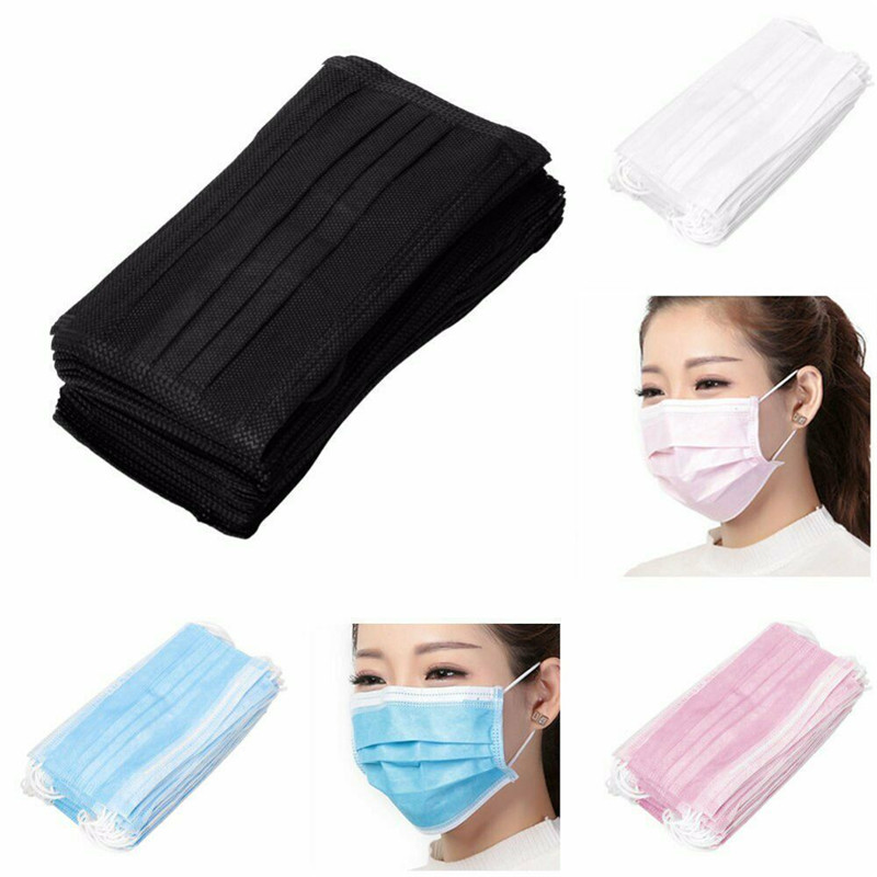 10Pcs Disposable Mouth Mask For Surgical Face Salon Dust Ear Loop Medical 3Ply Surgical Dental Nail Salon Dust Medical Face Mask