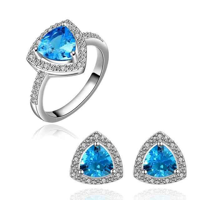 Mejores Amigos GoldenPlated belive african jewelry set joyería de la piedra Azul de nuevo de I + E sistemas de Jewellry couponFBLS027
