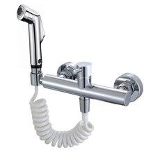 Free shipping Toilet Hot & Cold Bidet Spray Handheld Bidet Bathroom Shower Set bidet Shattaf Sprayer Jet Douche kit DR582