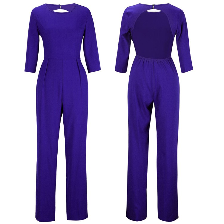 blue jumpsuits details