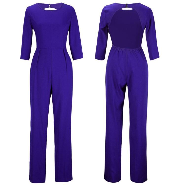blue jumpsuits details