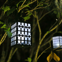 GiveU Solar powered Waterproof LED Lantern Fence Lights for Outdoor Decor Garden Yard Lawn Patio Tent Pavilion Camping, 2 Pack