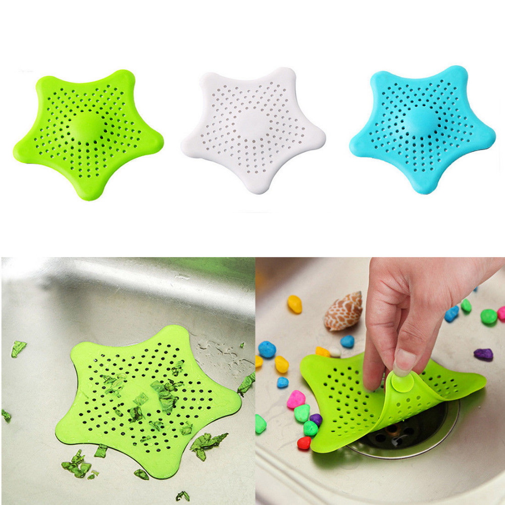 1pc Star Sewer Outfall Strainer Bathroom Sink Filter Anti Blocking