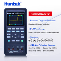 Hantek 2D82 AUTO 4 in1 handheld automotive oscilloscope 80Mhz digital oscilloscope portable 3 in1 2C42/2D72/2D42/2C72/2D82