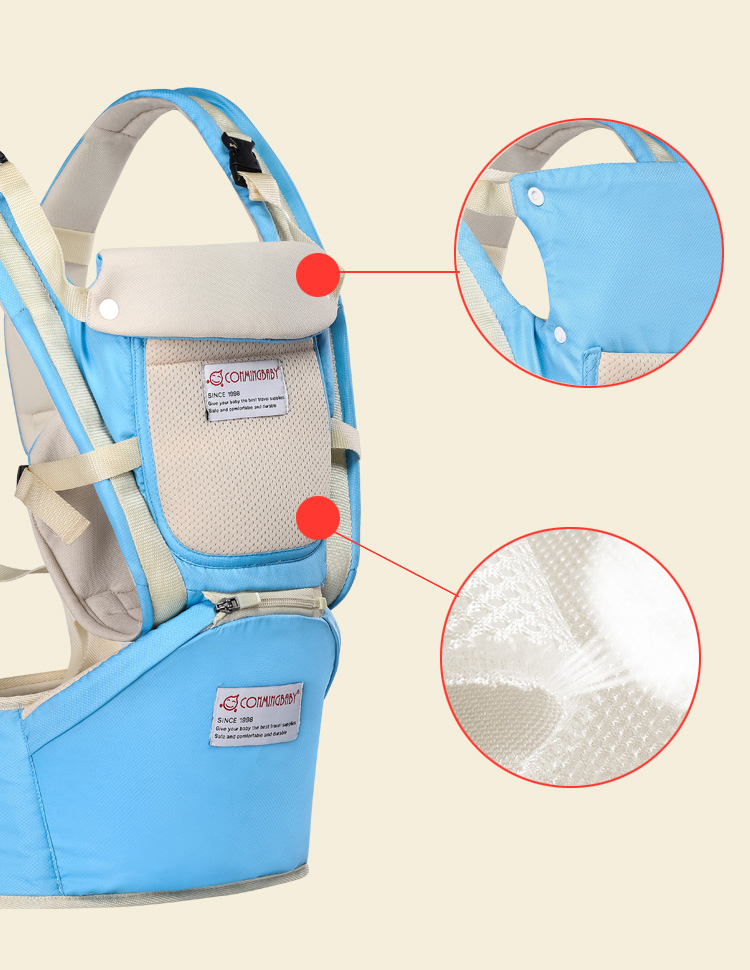 0-36 Months Ergonomic Baby Carrier And Breathable Hip Seat Kangaroo Sling For Newborns 6