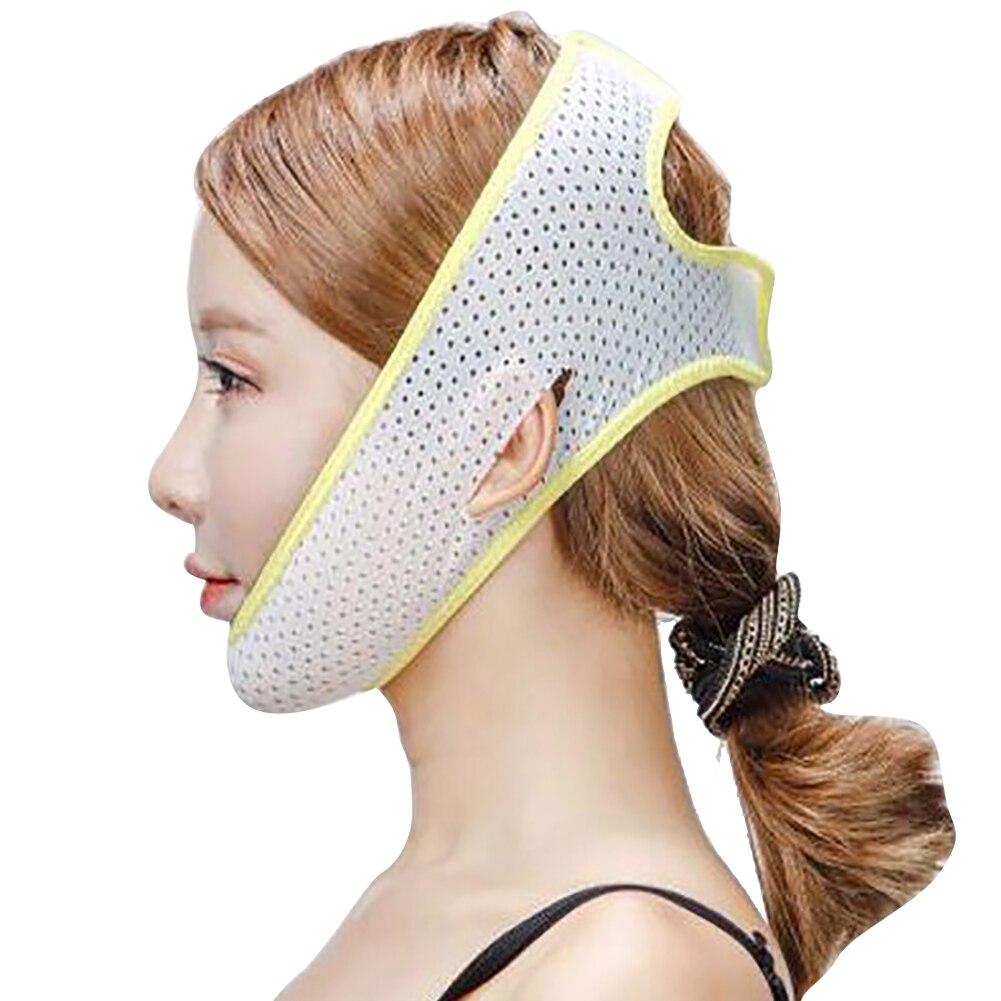 1 шт. инструменты для подтяжки лица, забота о здоровье, подбородок, щек, красота, пояс для похудения, v-образная линия, маска для подтяжки лица, бандажный массажер, один размер - Цвет: Yellow