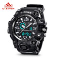 2016 D-ZINER Big Dial Men's Digital Watch S SHOCK Military Clock Men Watch Water Resistant Date Calendar LED Sports Watches Men