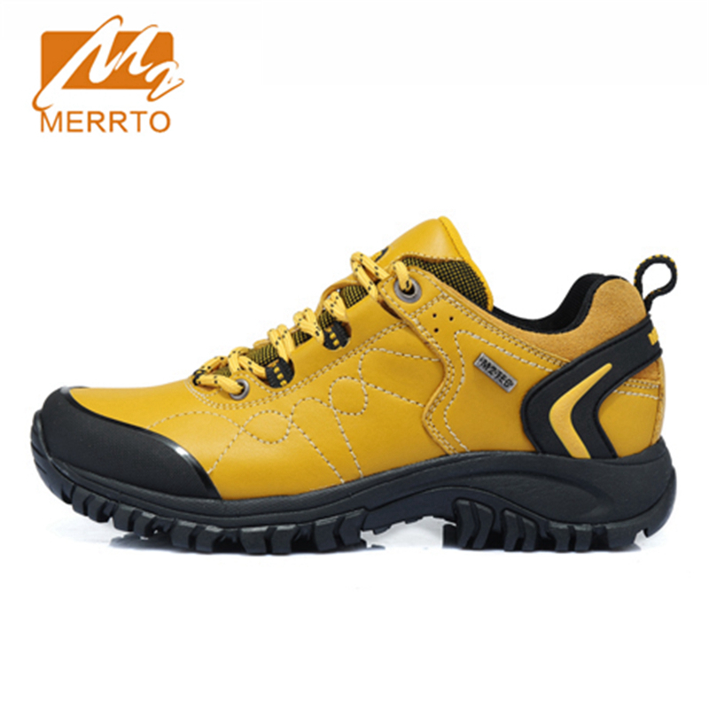 2017 Merrto Women Walking Shoes Waterproof Outdoor Shoes Breathable Sport Shoes Full-grain Leather For Women Free Shipping 18251