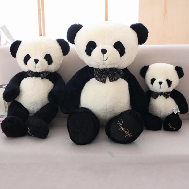 Anxiety Stuffed Animal, 1pc Cute Panda Plush Toy Soft Black And White Bow Knot Panda Stuffed Cartoon Animal Doll Teddy Bear Toys Kids Christmas Presents Stuffed Plush Animals Aliexpress