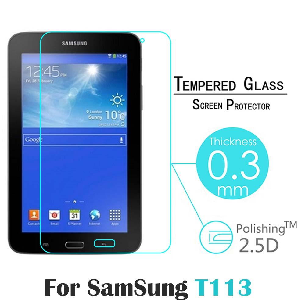 "For Samsung Galaxy Tab3 7.0 "" T110 T111 T113 T116 tablet Amazing 9H 0.3mm 2.5D Nanometer <font><b>Tempered</b></font> <font><b>Glass</b></font> <font><b>screen</b></font> <font><b>protector</b></font>"