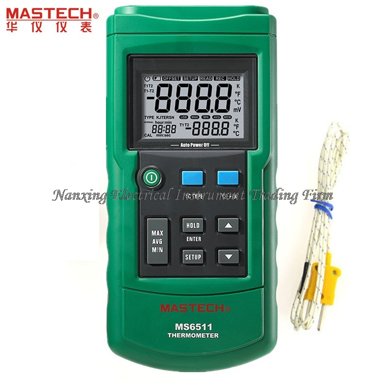 FAST ARRIVAL MASTECH MS6511 Digital Thermometer Single Channel K, J, T, E Thermocouple Type Temperature Meter Tester