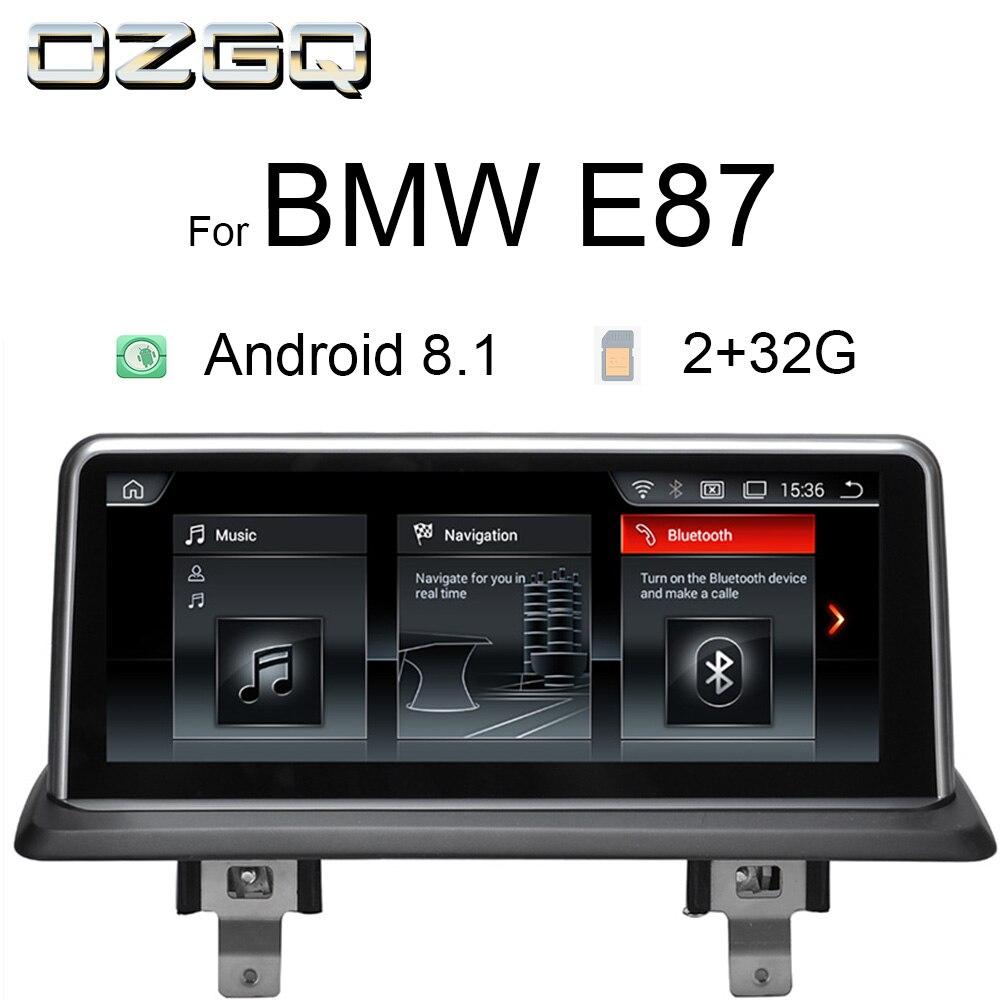 OZGQ 10.25 pouces 32G Android 8.1 lecteur multimédia de voiture GPS Navigation stéréo Autoradio Headunit pour 2006-2012 BMW E87 avec Idrive