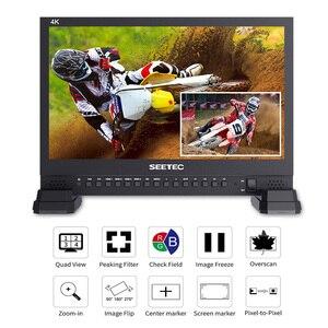 Image 3 - SEETEC 4K156 9HSD 15.6 بوصة IPS 3G SDI رصد البث UHD 3840x2160 4 K شاشة عرض فيديو LCD 4x4 K HDMI رباعية سبليت عرض VGA DVI