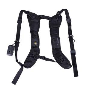 Image 2 - Caméra noire Double bandoulière sac à dos ceinture rapide sangle rapide pour appareil photo reflex numérique DSLR