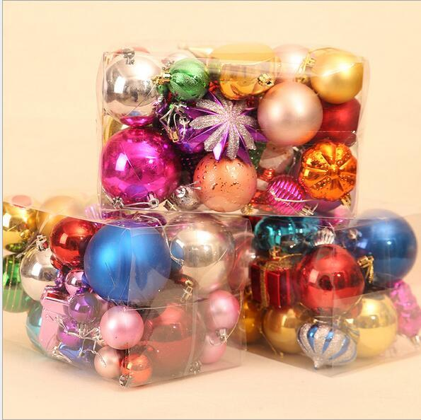 A Bag 60 70Pcs Balls Christmas Decoration Ball Ornaments Multi Package  Christmas Tree Package Pendant Christmas Mall Decoration  In Ball Ornaments  From Home ...