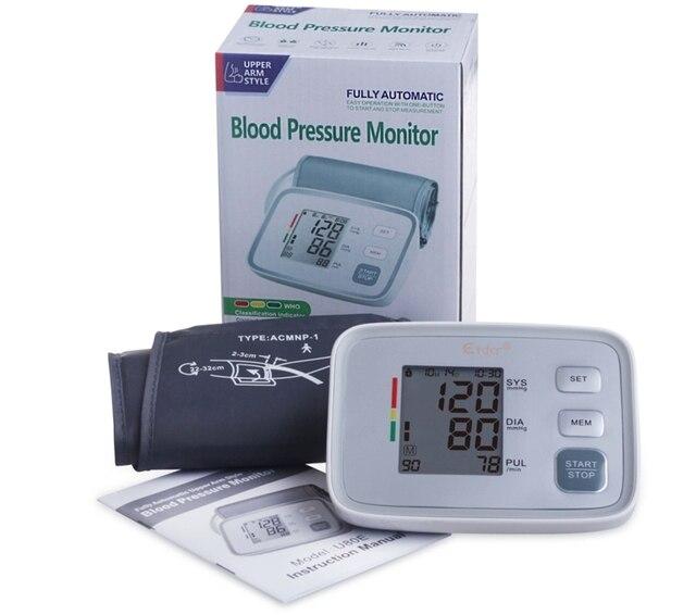 Arm bp Blood Pressure  Monitors tonometer Health care  Digital Upper Pulse Portable heart rate Monitor meter sphygmomanometer
