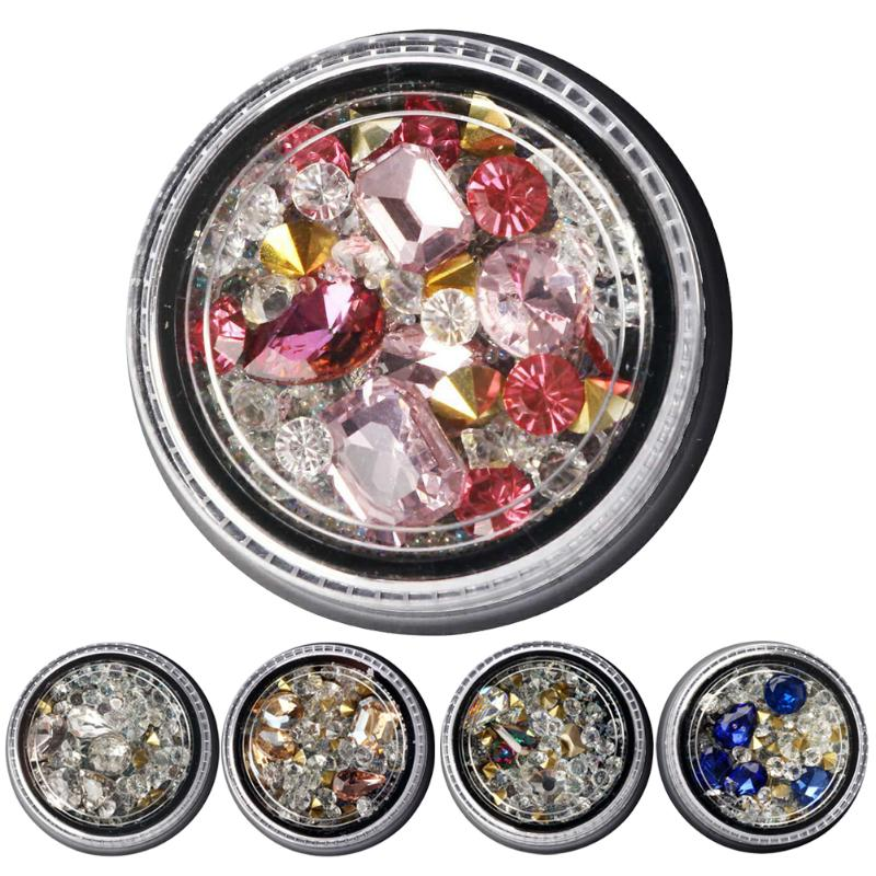 1 Box Mix Sizes Nail Art Crystal Clear AB Non Hotfix Rhinestones Nail Rhinestoens For Nails 3D Nail Art Decoration Gems mix ss3 ss30 crystal ab and clear shinning designs non hotfix flatback nail rhinestones 3d nail art decorations glitter gems