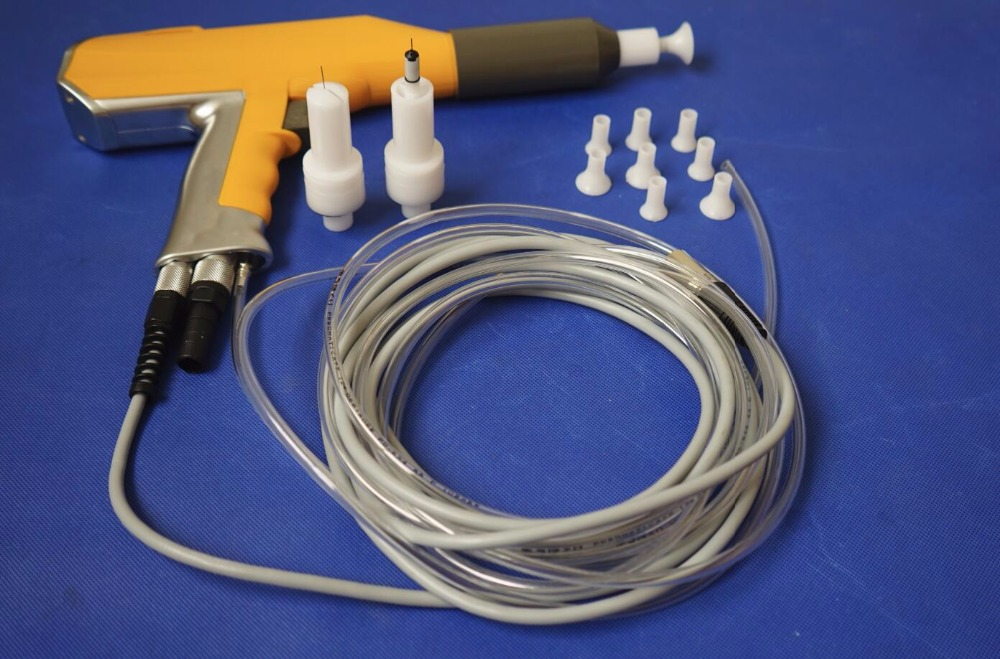 Electrostatic Manual Powder Coating Gun For Gema Optiflex Optiselect Assembly Finish Spray Gun