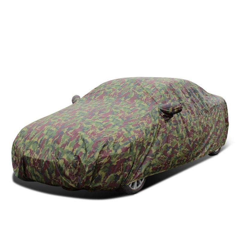 Couverture de voiture Camouflage Complet Étanche Épaississent Cas Pour Voiture Pare-Soleil Neige Protection Anti-Poussière Anti-UV Résistant Aux Rayures Couverture