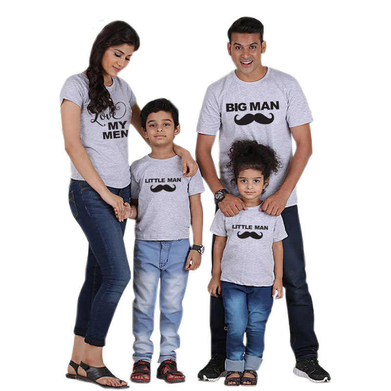 93a10dfb ... 1PC Mom And Daughter Clothes Big Little Man Father Son Matching Clothes  Black t shirt Family ...