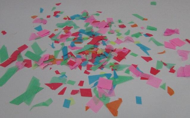 Красочные бумажные скрепки конфетти огнеупорная нарезанная бумага 25 кг в партии свадебные украшения партии по FedEx