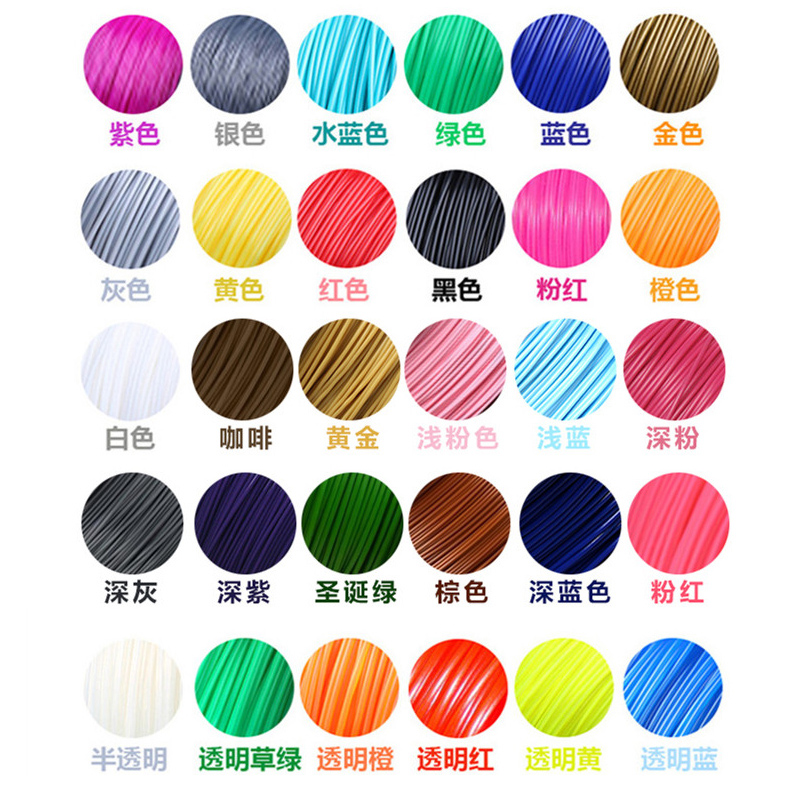 SunDcreate 22 color or 20 color or 10 color/set 3D Pen Filament ABS/PLA 1.75mm Plastic Rubber Consumables Material 3d Printer 200 meter 20 color set 3d pen filament pla 1 75mm plastic rubber printing material for 3 d printer pen refills brithday gift