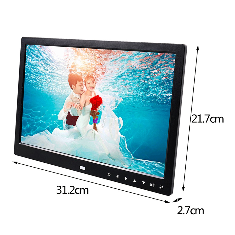 Multi functional 13 Inch 1280*800 HD LED Digital Photo Frame High Resolution Digital Picture Frame Photo Album Frame