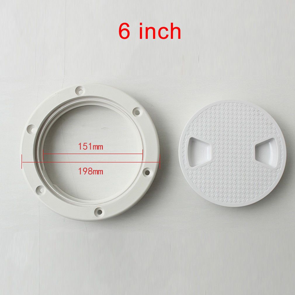 1pc 6 ABS Plastic Boat Speedboat Anti slip Panel Round Access Hatch Cover NEW-in Marine Hardware from Automobiles & Motorcycles
