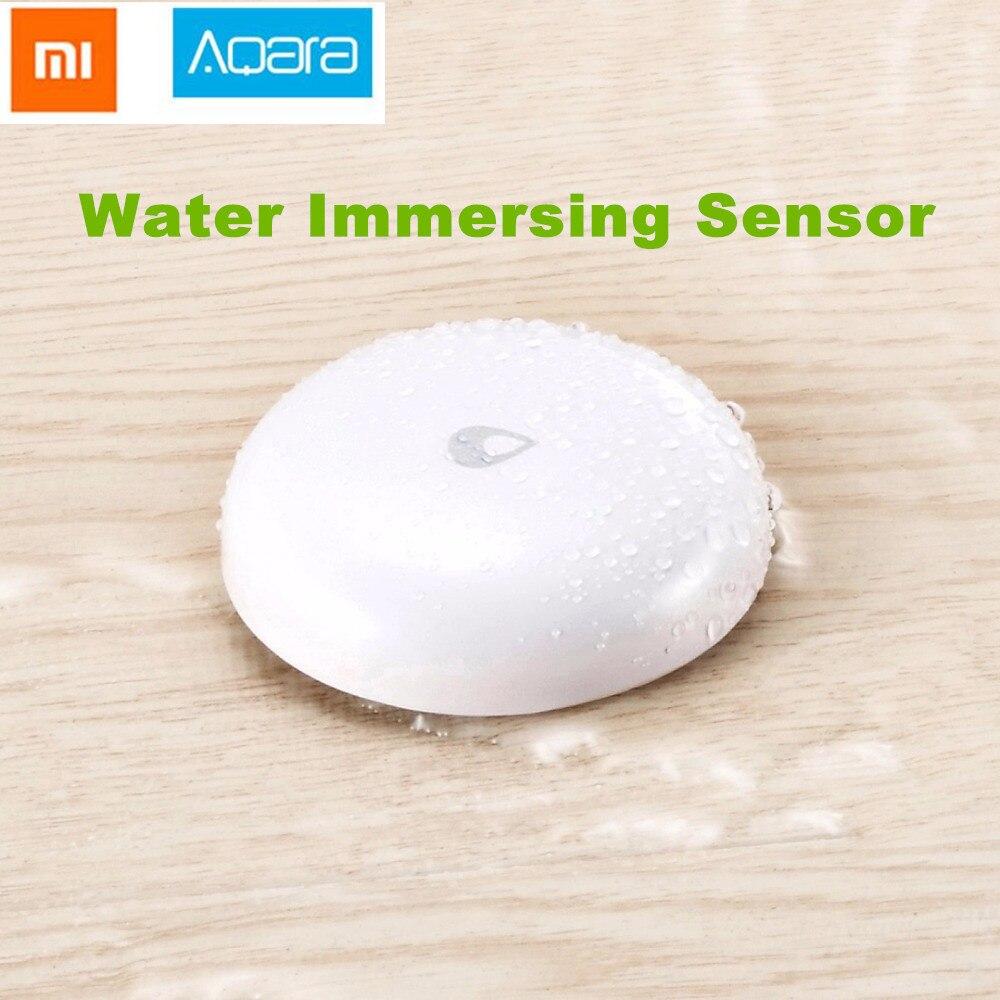 2018 Xiaomi Mijia Aqara agua sumergiendo Sensor de inundación de agua Detector de fugas para casa remoto alarma de seguridad de cuarto de Sensor