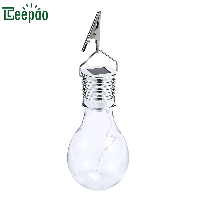 Waterproof Solar Copper Wire Bulb Outdoor Garden Camping Hanging LED Light Lamp with Cli ...