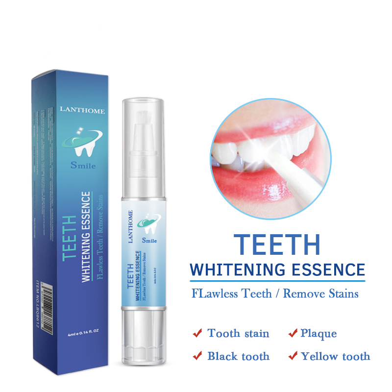 Drop Shipping 4ML Teeth Whitening Pen Gel Tooth Cleaning Pen Brush With Teeth Whitening Strips White Smile Dental Tools TSLM2