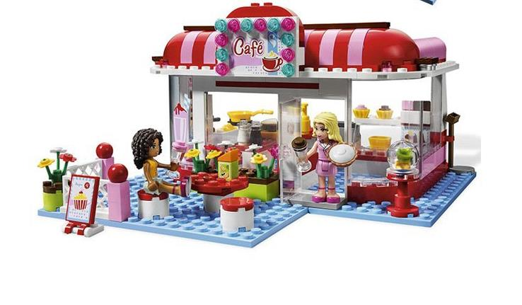 Bela 10162 Friend Series City Park Cafe Blocks Bricks Toys Girl Game House Gift DIY Educational Kids Toy Gifts with 3061