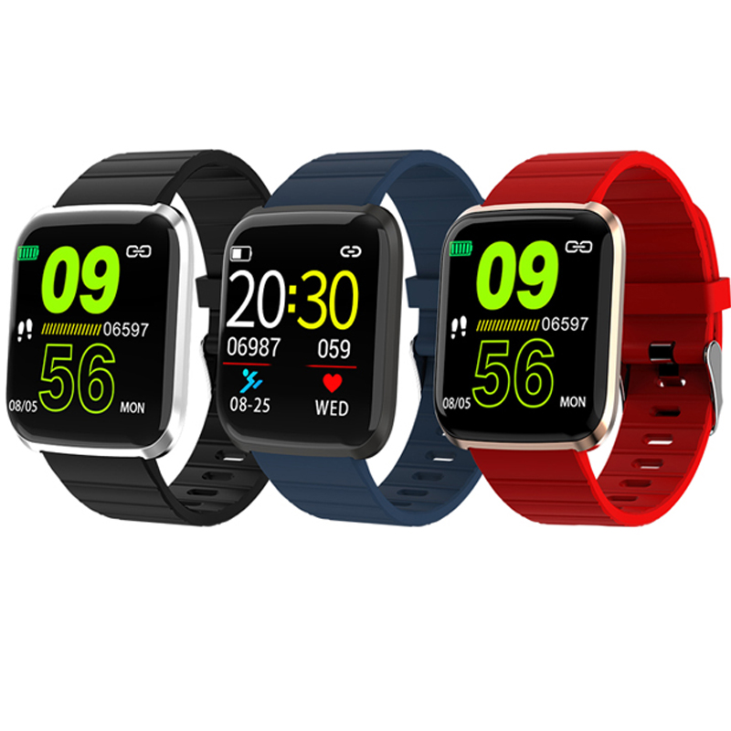 Ravi 116Pro Smartwatch With Pulse Monitor Pedometer Alarm Reminder Smart Life Assistant Wrist Watch Waterproof ip67 PK Fitbits