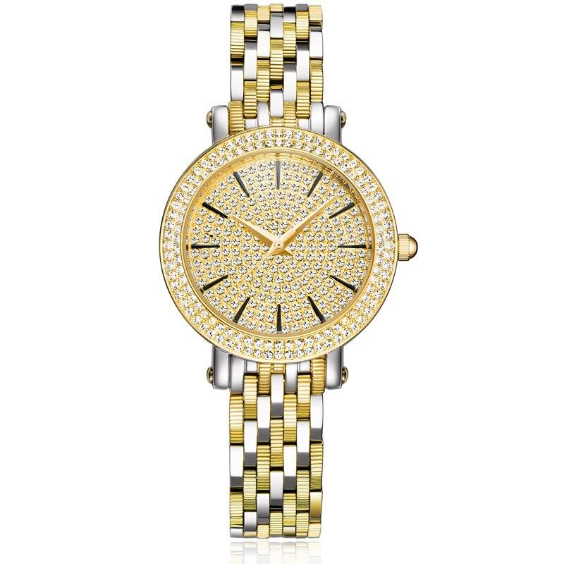 New Golden Watches Women Quartz Watches Ladies Fashion Watch Top Brand Luxury Waterproof Watch Steel Bracelet Relogio Feminino стоимость