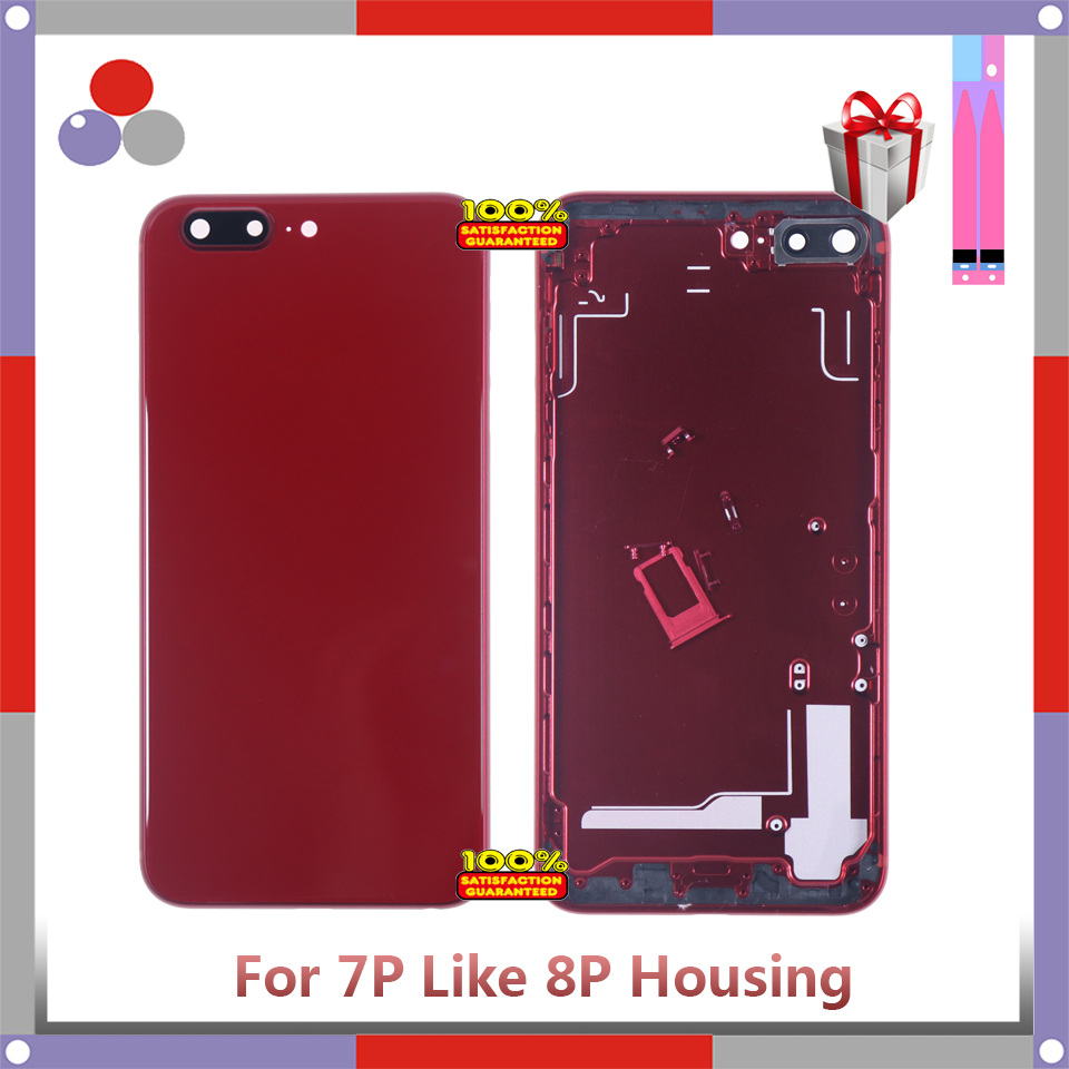 AAA++High Quality For Iphone 7G Like 8 Or 7Plus Like 8 Style Housing Battery Cover Door Rear Chassis Frame Back Cover