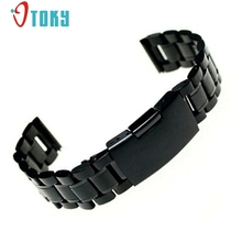 OTOKY 1 pc 18mm 20mm 22mm Stainless Steel Bracelet Watch Band Strap Straight End Solid Links #30 Gift