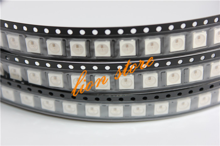 WS2812B LED Chip 100~1000pcs 5050 RGB SMD Black/White Version WS2812 Individually Addressable Digital 5V