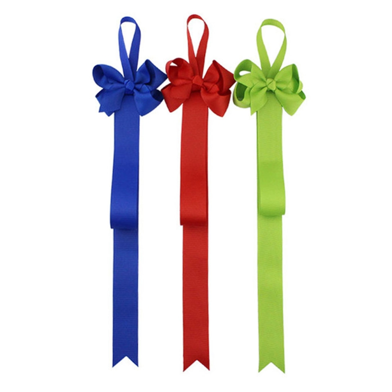 10 Pc Baby Girls Grosgrain Ribbon Bow Tie Hair Clip Holder Organizer Storage Display