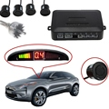 Hot Car Auto Parktronic LED Display Car Reverse Backup Radar Kit Sound Alert + 4 Parking Sensors Radar Monitor Detector System