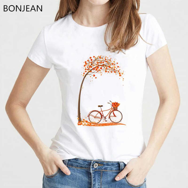 ขายร้อนสีแดงLove Tshirtผู้หญิงบอลลูนจักรยานTreeพิมพ์สีขาวTเสื้อฤดูร้อนหญิงยอดนิยมTumblrเสื้อผ้าStreetwea