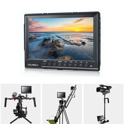 Feelworld FW-760 7 Video Monitor IPS Full HD 1080p with Sunshade and MINI HDMI Macro for BMPCC for Canon Sony Dslr Camera